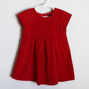 Red corduroy dress size 2T from Baby Gap